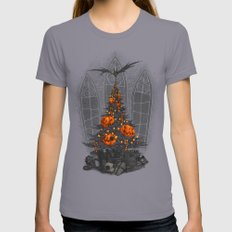 I'm Dreaming Of A Dark C… Womens Fitted Tee Slate SMALL