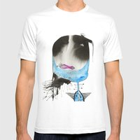 Spaghetti Mens Fitted Tee White SMALL