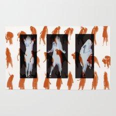 Orange dancer Rug