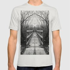 Mirrored Bridge Mens Fitted Tee Silver SMALL