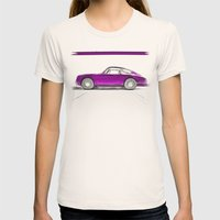 Porsche 911 / III Womens Fitted Tee Natural SMALL