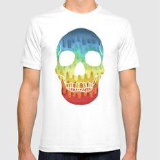 Paper Skull SMALL White Mens Fitted Tee