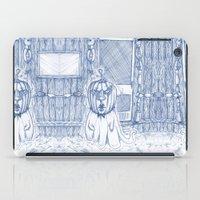 Blue Inhabited Plain iPad Case