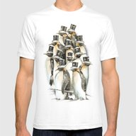 A Gathering In The Snow Mens Fitted Tee White SMALL