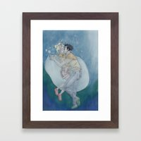 Best Underwater Kiss Framed Art Print