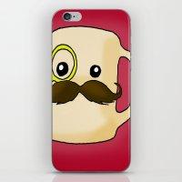 Mustache Mug iPhone & iPod Skin