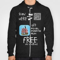 Pixel Pirate Run on Android Hoody