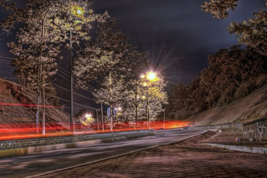 Vista nocturna / Night view Art Print