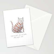 lightning bolt cats are better Stationery Cards