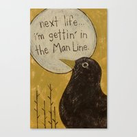 Overheard - Man Line Canvas Print