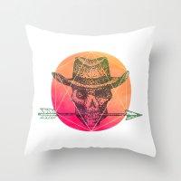 Dead Sheriff Throw Pillow