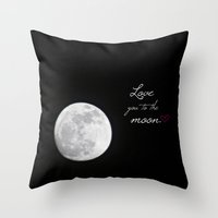 To The Moon Throw Pillow