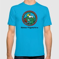 Hates: Vegetables (Battl… Mens Fitted Tee Teal SMALL