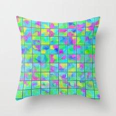 Watercolor Flower Petals… Throw Pillow