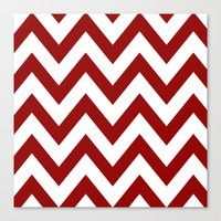SOONER CHEVRON Canvas Print