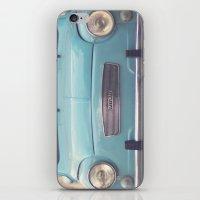 Mint - Blue Retro Fiat C… iPhone & iPod Skin