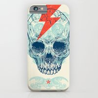 owls iPhone & iPod Cases featuring Skull Bolt by Rachel Caldwell