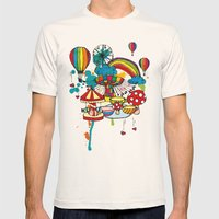 Funfair! Mens Fitted Tee Natural SMALL