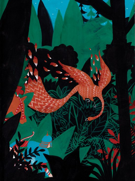 Russian Folk Tales - The Firebird Art Print