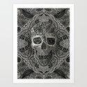 Lace Skull Art Print