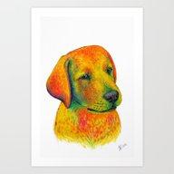 Art Print featuring Dog by Nika Akin