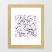 Exotic Blue Framed Art Print