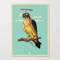 Making Fun Of The Falcon Canvas Print