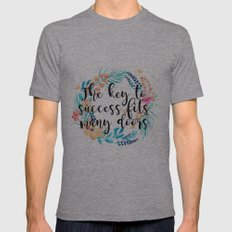 The key to success fits many doors Mens Fitted Tee Athletic Grey SMALL
