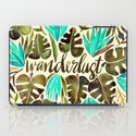 Tropical Wanderlust – Turquoise & Olive iPad Case