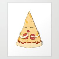 Sexy Pizza Art Print