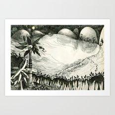 Moon Hunting Art Print