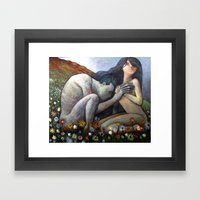 Nudes On A Hillside Framed Art Print