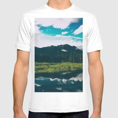 North Cascades Hidden Lake Mens Fitted Tee SMALL White