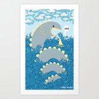 Serpent Surprise Art Print