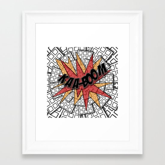 KAA-BOOM Framed Art Print