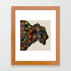bison bone beige Framed Art Print
