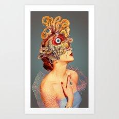 Freud Vs Jung Art Print