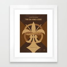 No548 My Da Vinci Code minimal movie poster Framed Art Print
