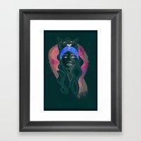 Neon Tiger Framed Art Print