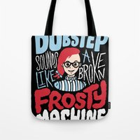 Frosty Dubstep Tote Bag