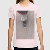 Skateboarding Womens Fitted Tee Light Pink SMALL