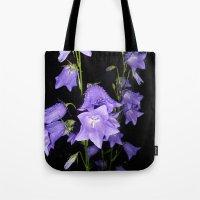 Flowers in Purple Tote Bag