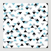 Triangles Ice Blue Canvas Print