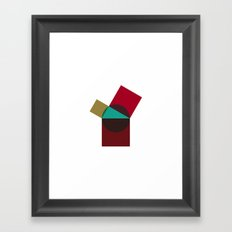 #414 Poppy pythagoras – Geometry Daily Framed Art Print