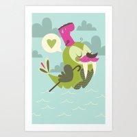I'm the walrus Art Print