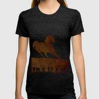 War Horse Womens Fitted Tee Tri-Black SMALL