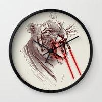 Light Saber Tooth Tiger Wall Clock