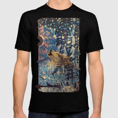 THE WOLF HOWLED AT THE STAR FILLED NIGHT Mens Fitted Tee Black SMALL