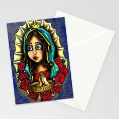 Lady Of Guadalupe (Virgen de Guadalupe) BLUE VERSION Stationery Cards