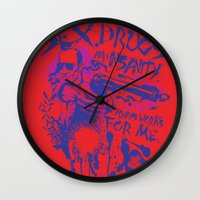 Sex,Drugs and Insanity Wall Clock